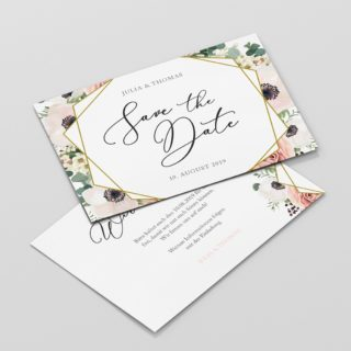 Save the Date Modern Boho Floral DIN A6