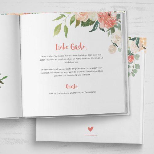 Gästebuch Watercolor Floral Quadratisch