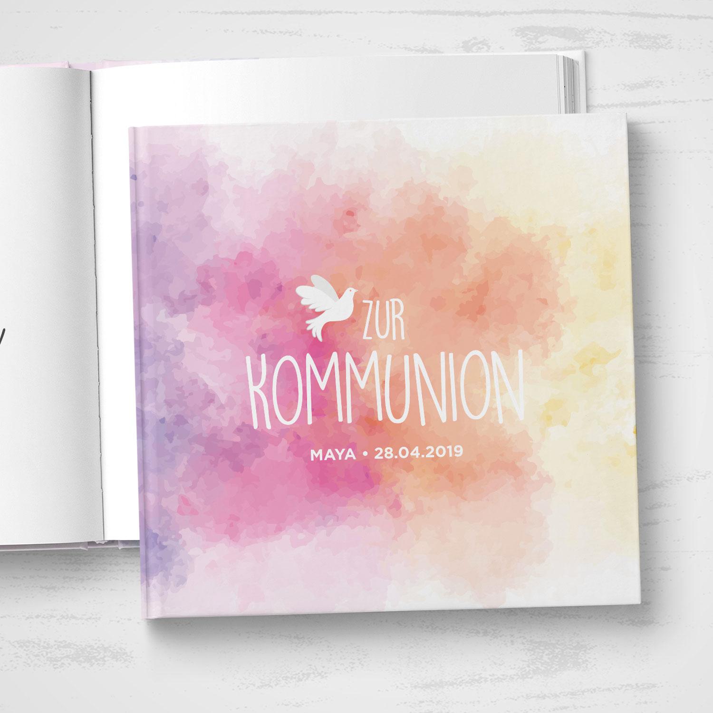 Gästebuch Kommunion Rainbow Quadratisch